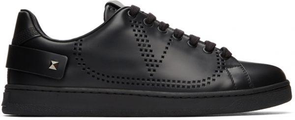Valentino Garavani Black Valentino Garavani VLogo Backnet Sneakers