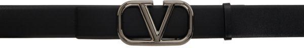 Valentino Garavani Black Valentino Garavani VLogo Belt