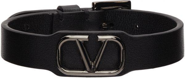 Valentino Garavani Black Valentino Garavani VLogo Bracelet