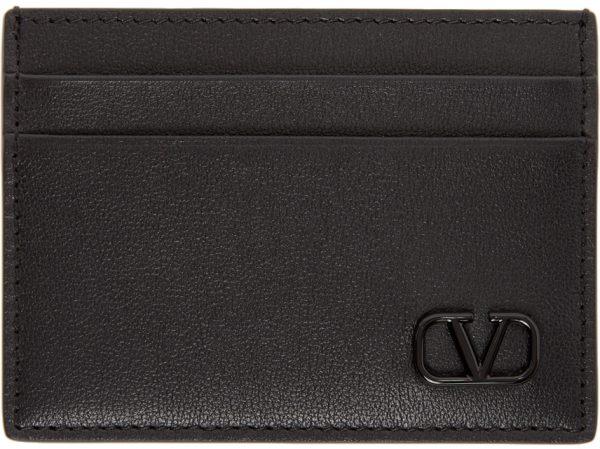 Valentino Garavani Black Valentino Garavani VLogo Signature Card Holder