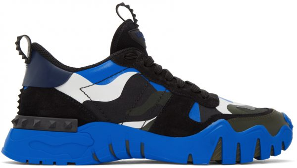 Valentino Garavani Black & Blue Valentino Garavani Rockrunner Plus Sneakers