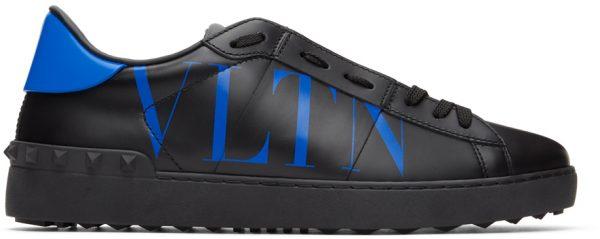Valentino Garavani Black & Blue Valentino Garavani 'VLTN' Open Sneakers