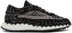 Valentino Garavani Black & Grey Crochet Sneakers