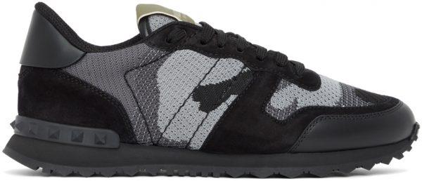 Valentino Garavani Black & Grey Valentino Garavani Rockrunner Sneakers