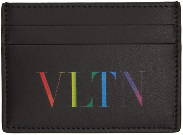Valentino Garavani Black & Multicolor Valentino Garavani 'VLTN' Card Holder