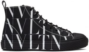 Valentino Garavani Black & White All Over 'VLTN' High Sneakers