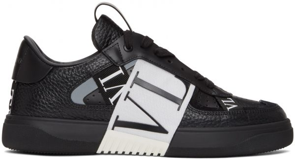 Valentino Garavani Black & White Valentino Garavani 'VL7N' Low-Top Sneakers