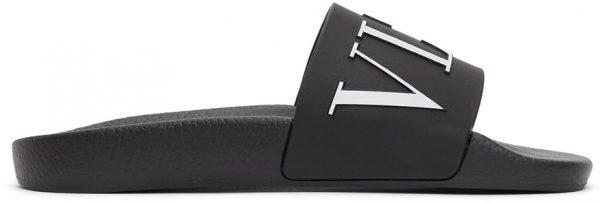 Valentino Garavani Black & White Valentino Garavani 'VLTN' Slides