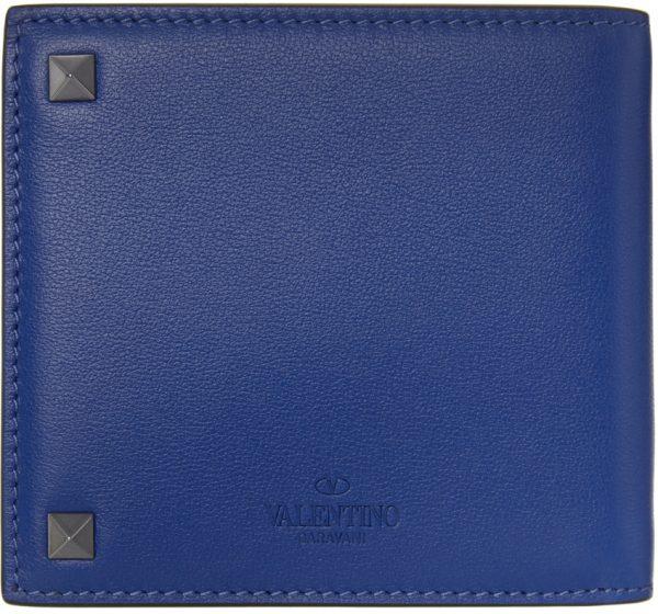 Valentino Garavani Blue Valentino Garavani Rockstud Bifold Wallet