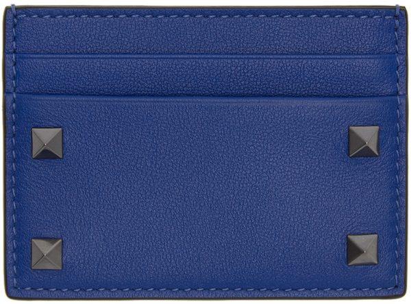 Valentino Garavani Blue Valentino Garavani Rockstud Card Holder