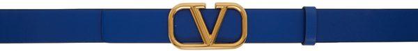 Valentino Garavani Blue Valentino Garavani VLogo Belt
