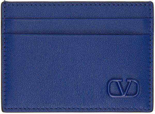 Valentino Garavani Blue Valentino Garavani VLogo Card Holder