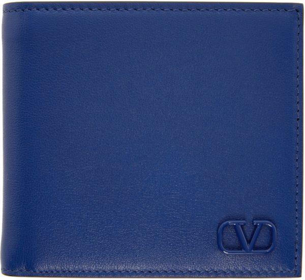 Valentino Garavani Blue Valentino Garavani VLogo Signature Wallet