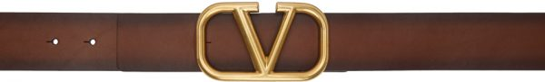Valentino Garavani Brown Valentino Garavani VLogo Buckle Belt