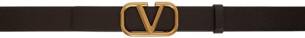 Valentino Garavani Brown Valentino Garavani Vlogo Belt