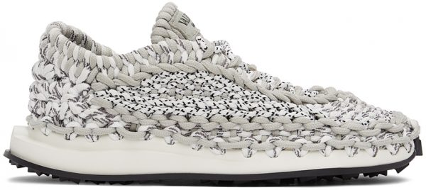 Valentino Garavani Grey Crochet Sneakers