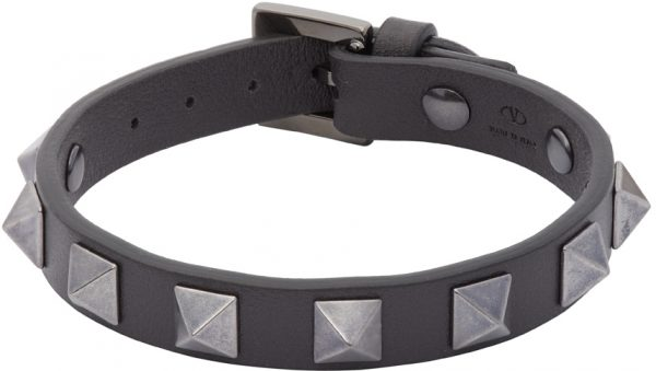 Valentino Garavani Grey Valentino Garavani Rockstud Bracelet