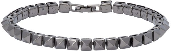 Valentino Garavani Gunmetal Valentino Garavani Rockstud Bracelet