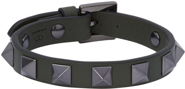 Valentino Garavani Khaki Valentino Garavani Rockstud Bracelet