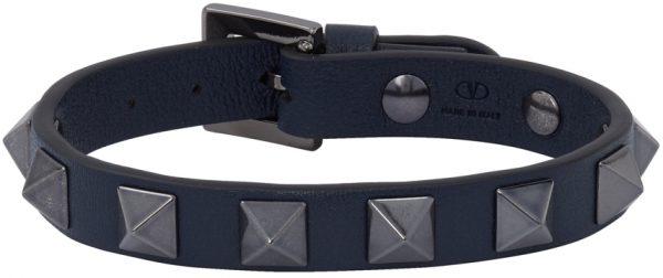 Valentino Garavani Navy Valentino Garavani Rockstud Bracelet