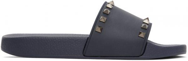 Valentino Garavani Navy Valentino Garavani Rockstud Sandals