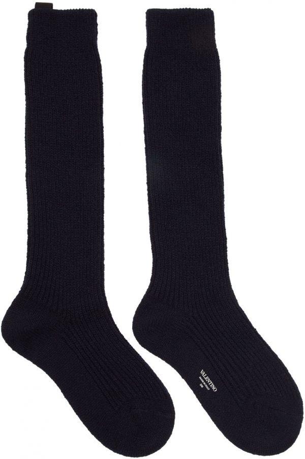 Valentino Garavani Navy Valentino Garavani Undercover Edition Socks
