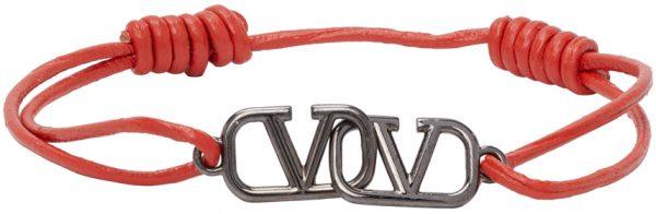 Valentino Garavani Orange Valentino Garavani VLogo Bracelet