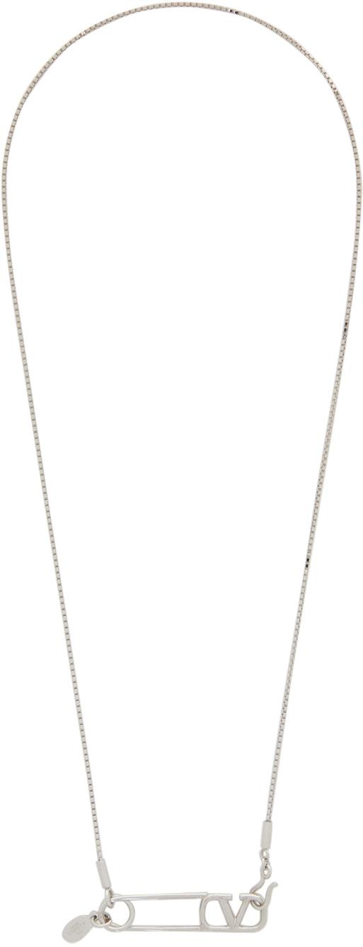 Valentino Garavani Silver Palladium Necklace