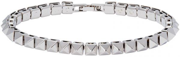 Valentino Garavani Silver Valentino Garavani Rockstud Bracelet
