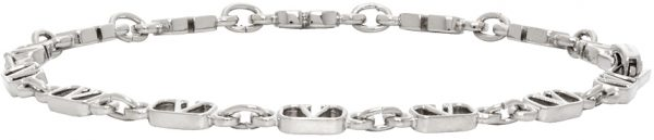 Valentino Garavani Silver Valentino Garavani VLogo Link Bracelet