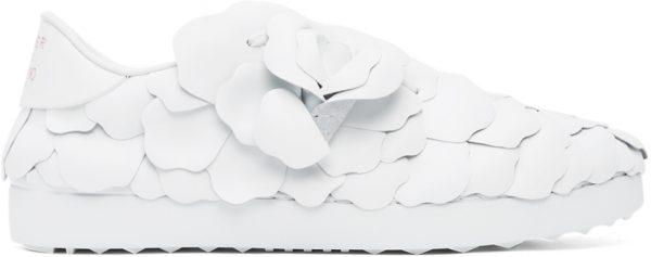 Valentino Garavani White 03 Rose Edition Atelier Petal Low Sneakers
