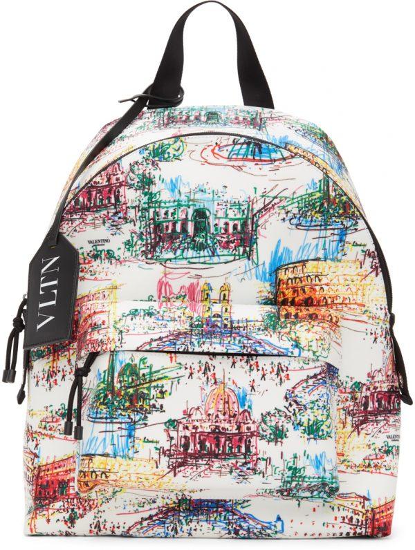 Valentino Garavani White Valentino Garavani 'VLTN' Monuments Backpack