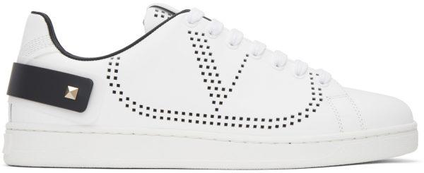 Valentino Garavani White Valentino Garavani VLogo Backnet Sneakers