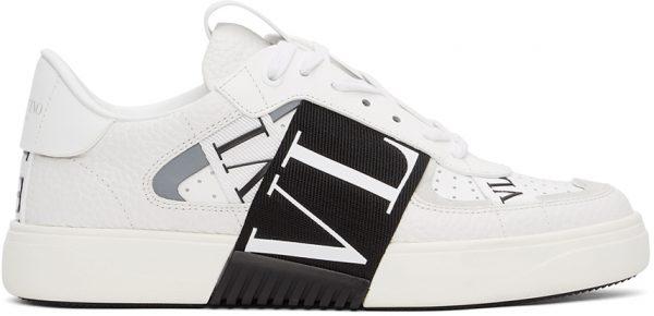 Valentino Garavani White & Black 'VL7N' Low Sneakers