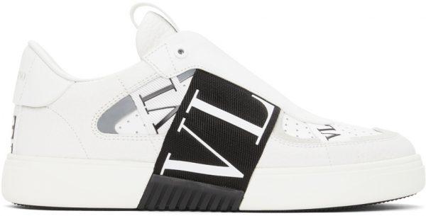 Valentino Garavani White & Black Valentino Garavani VL7N Low-Top Sneakers