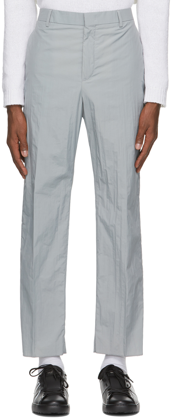 Valentino Grey Taffeta Trousers