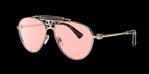 Valentino Man VA2039 - Frame color: Gold, Lens color: Pink, Size 59-16/140