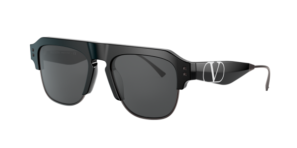 Valentino Man VA4085 - Frame color: Black, Lens color: Grey-Black, Size 54-19/145