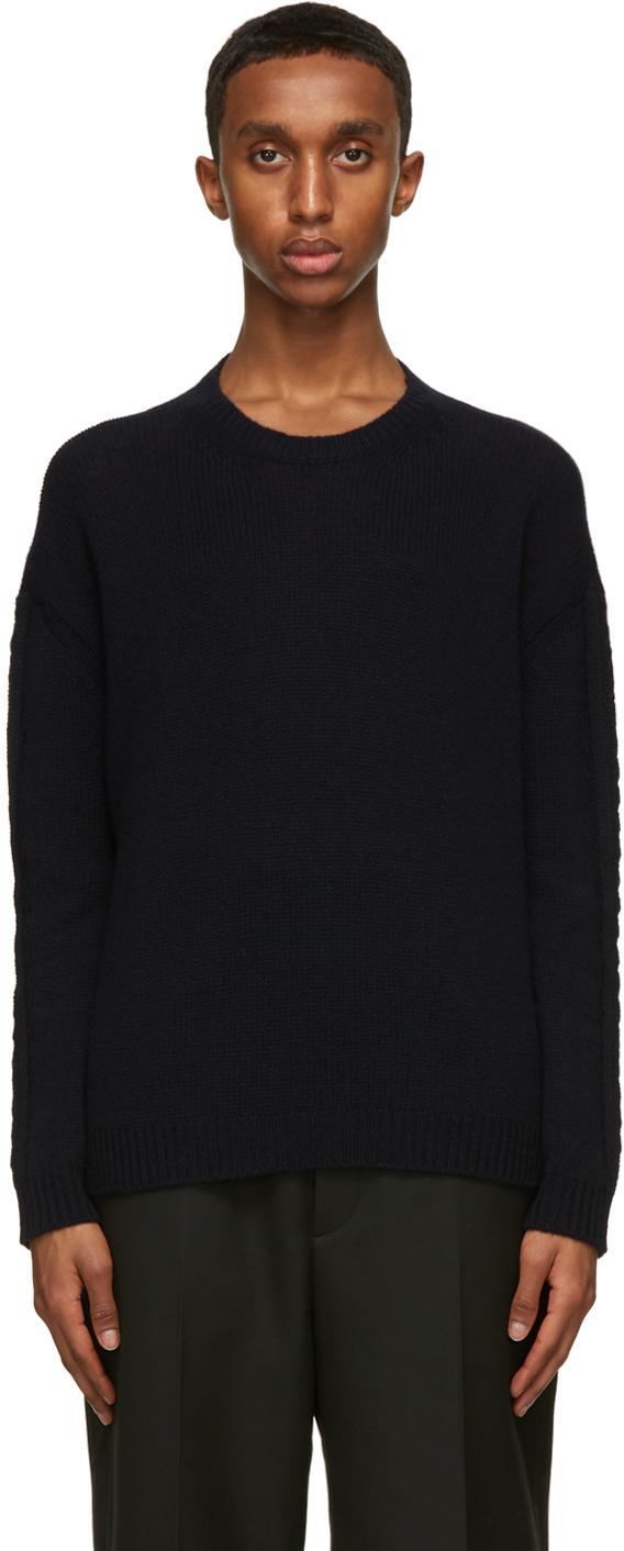Valentino Navy Cashmere Sweater