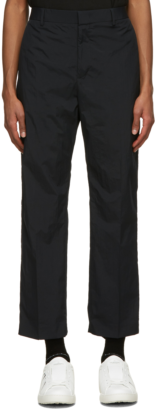 Valentino Navy Nylon Trousers