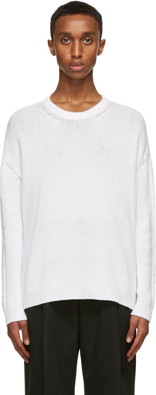 Valentino White Cashmere Sweater