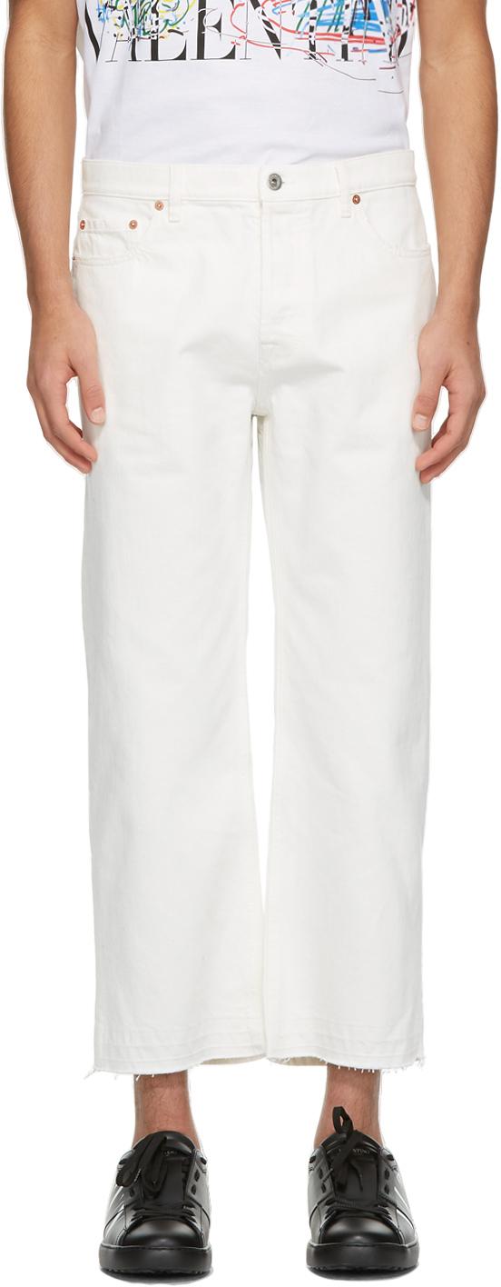 Valentino White Five Pocket Chino Jeans