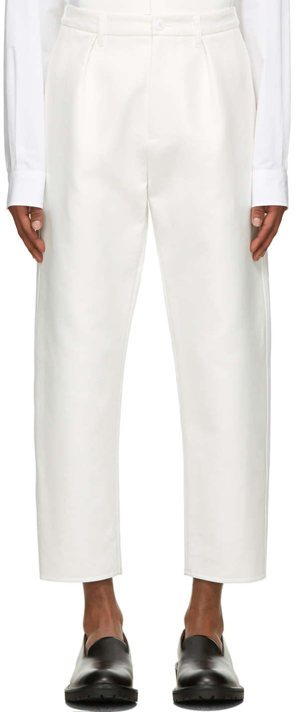 Valentino White Mismatched Pocket Trousers