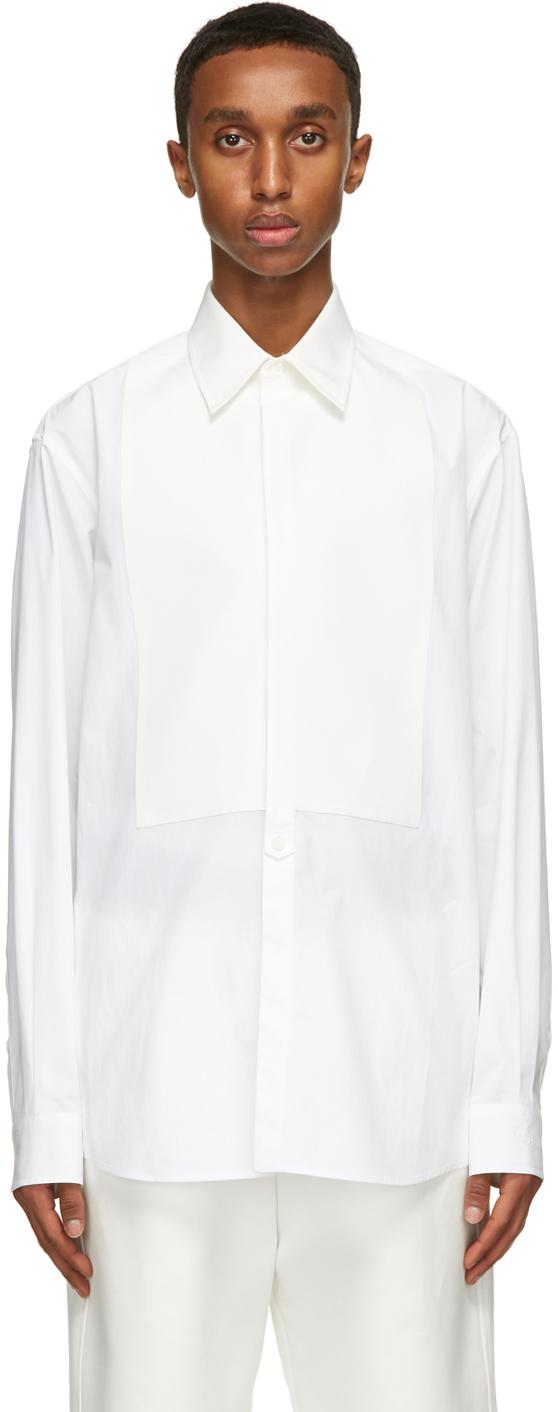 Valentino White Plastron Shirt