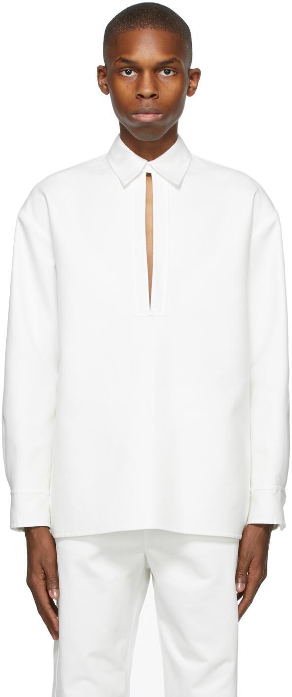 Valentino White Twill Shirt