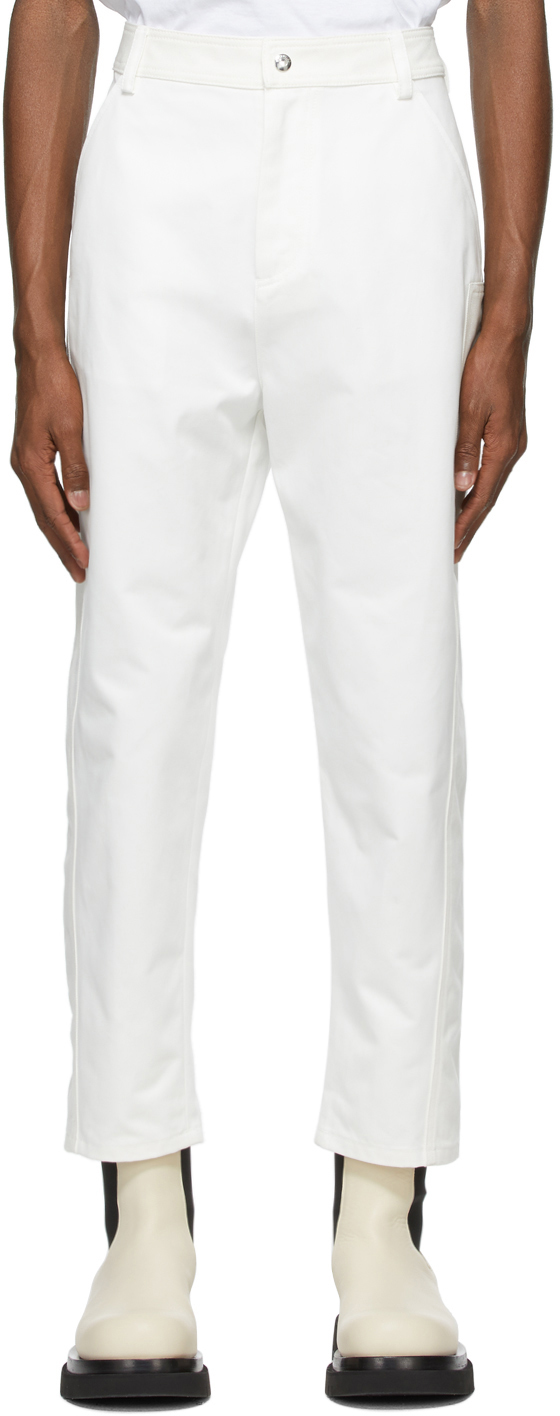 Valentino White Twill Trousers