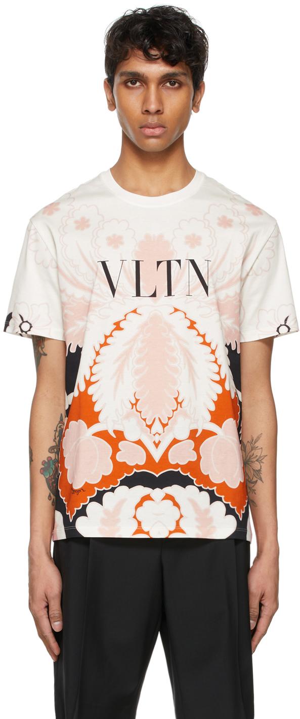 Valentino White & Pink 'VLTN' T-Shirt