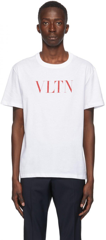 Valentino White & Red 'VLTN' T-Shirt