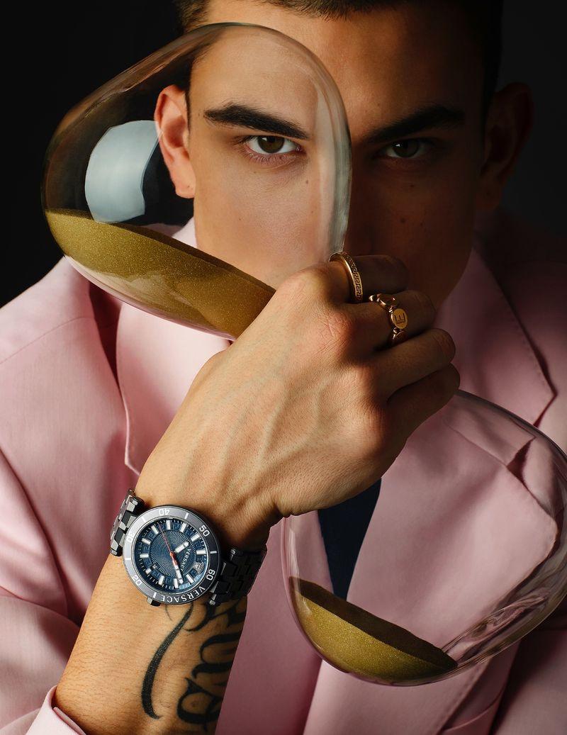 Simone Bricchi & Valentin Humbroich Front Versace Watches Campaign