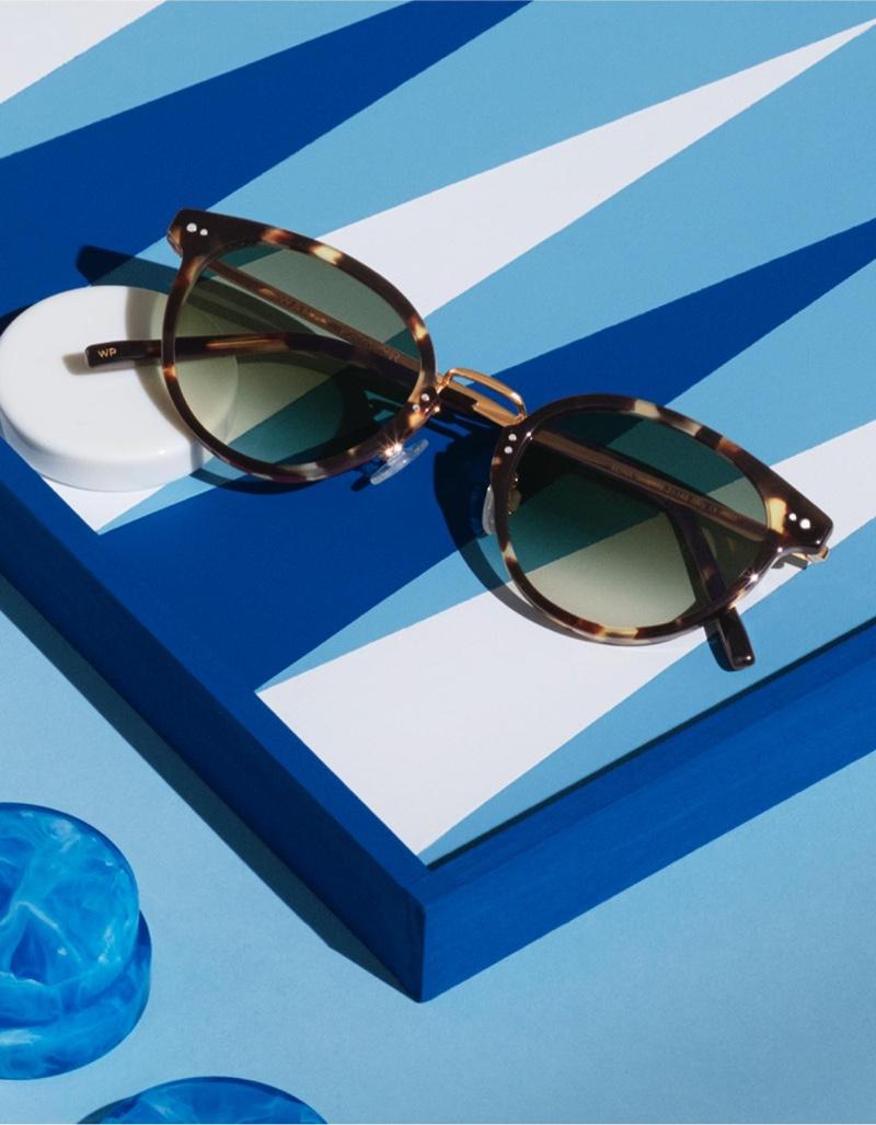 Warby Parker Elina Truffle Tortoise with Polished Gold Sunglasses